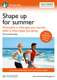 Shape Up for Summer leaflet